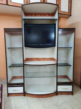 Golden Showcase with Storage compartments