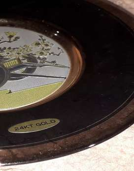 #Gold plated plate