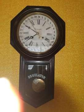 Antique Ansonia regulator date clocks