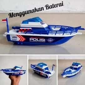 Mainan Kapal Laut Patroli Polisi Pakai Baterai   Patrol Boat