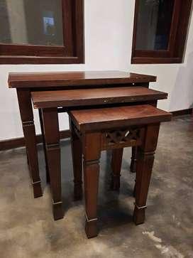 Nesting tables / Coffee table / Meja kayu x3