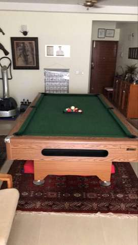 Pool table. All wood, slate top. Excellent condition.