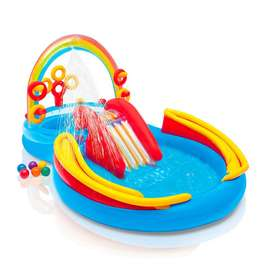 Intex 57453 Rainbow Ring Inflatable Paddling Pool For Children