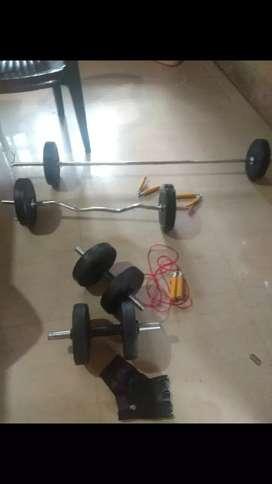 Gym dumbells barbel bend barbell 20kg