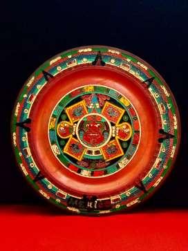 Hiasan kuningan, mexico..Aztec