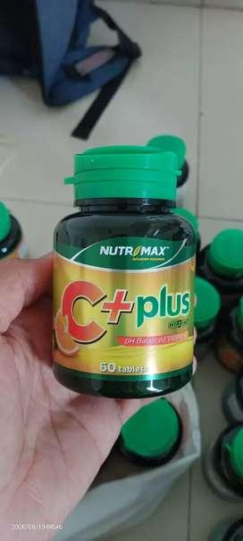 Nutrimax C+ plus 60 tab with zinc anti bakteri dalam tubuh dan imun