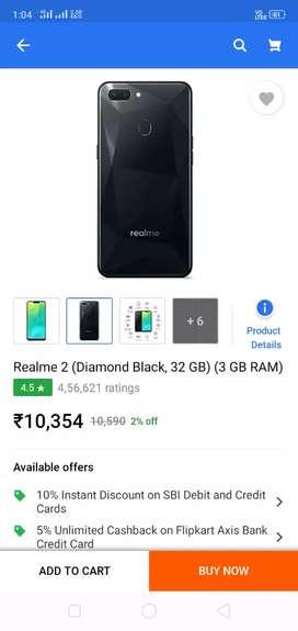Realme 2 , Diamond Black(3,32)