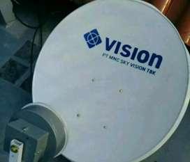 Pasang indovision Mnc Vision parabola hemat tayangan mendidik