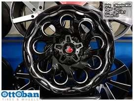 Velg mobil Pajero Prado Fortuner murah Mamba M5A R20X9 hole 6x139.7
