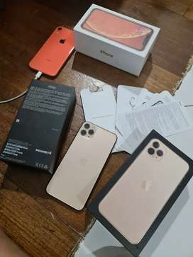 iphone 11 pro max 256gb gold, tanpa hedset, box ori,charger xs max ori