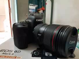 BEST QUALITY CANON 6D MARK II 2 MONTH OLD ONLY URJENT SELL