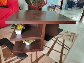 Brown polished coffee table