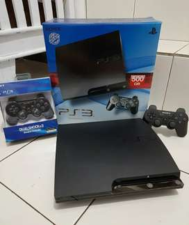 BU cepat PS3 SLIM 500GB OK Joss isi 100 game +2 Stik OK