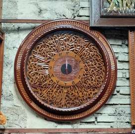 Jam Kaligrafi Kayu Jati