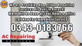 AC Installation / AC service / AC repearing/ Fridge Repairing and Gas