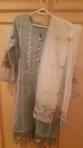 Party wear Net readymade suit for ladies