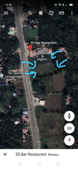 1.4 acres land in udipi on NH 17