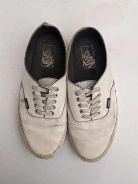 (Harga beli 1,6 jt) Vans decon white snake leather