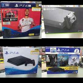 all types of consoles available for best price with & without warranty