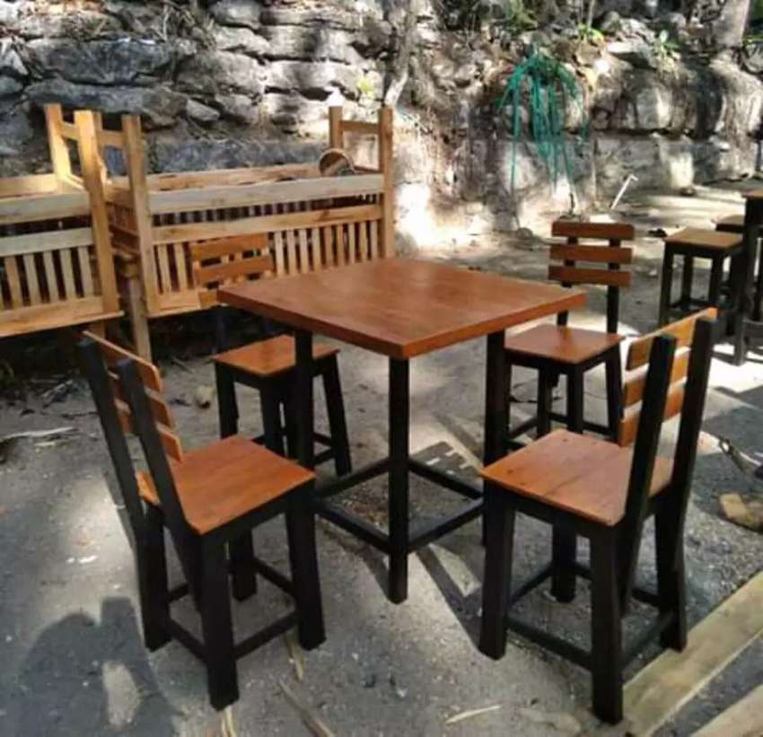 Set meja kursi cafe super promo