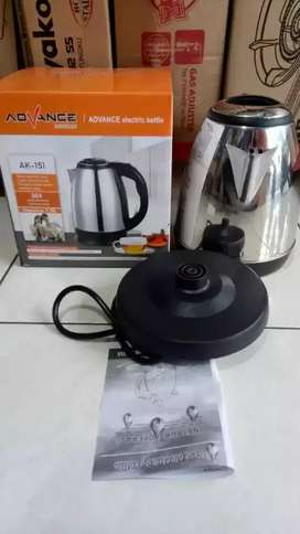 Teko/kettle Electrik Advance AK151 pemanas air kapasitas air 1.5L-BARU