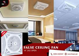 """False Ceiling Fan FANPRO 14"""" (OPEN) 2x2 with 3 Options to Install"""