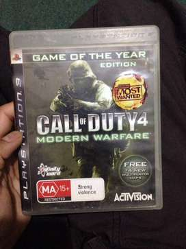 Call of duty modern warfare for ps3 in good condition