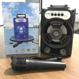 Speaker Bluetooth FOJAX FJ-16DW Plus Mic Karaoke, Radio, USB, Micro SD