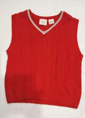 Outwear/ Sweater/ Rompi Rajutan Merah Usia 6-8 tahun murah
