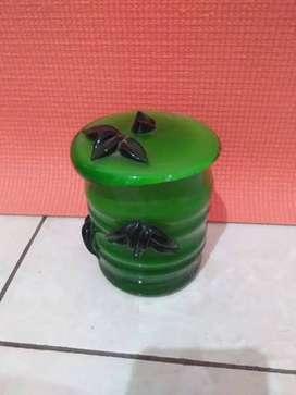 cangkir keramik untuk hiasan warna hijau