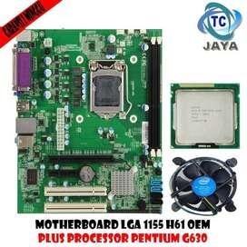 PAKET Mobo LGA 1155 H61 OEM Plus Processor Intel Pentium G630