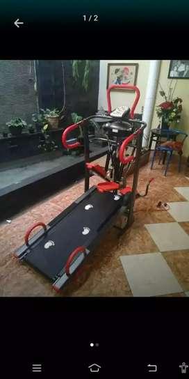 Alat fitnes Treadmill manual multifungsi JS-004