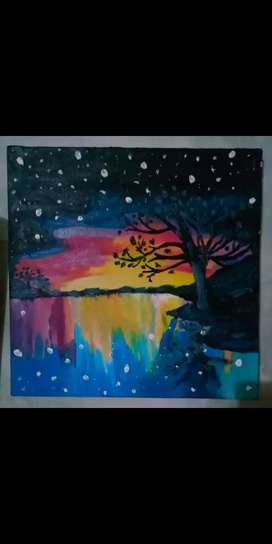 A sunset painting