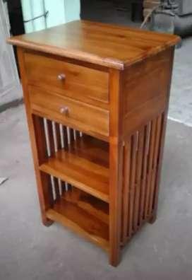 Meja dispenser laci kayu jati