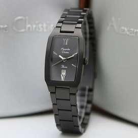 Jam Tangan Alexandre Christie 2455 Black Full