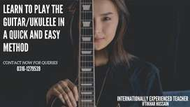 Guitar Classes   Learn to Play the Guitar in A Quick and Easy Method
