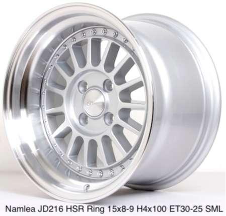 VELG MOBIL NAMLEA JD216 HSR R15X8 H4x100 ET30 SML 0