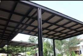 layanan memasang kanopi baja ringan TARIF RAPI