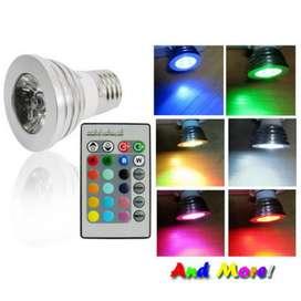 Lampu Bohlam LED RGB with Remote Control Warna Warni Kamar Tidur Murah