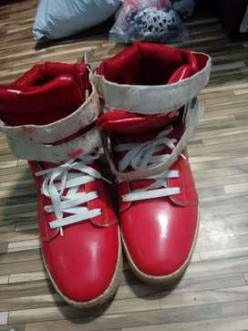 Red colour stylish shoe