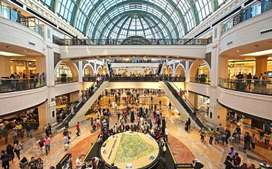 Vacancy in shopping mall for fresher male and female candidate