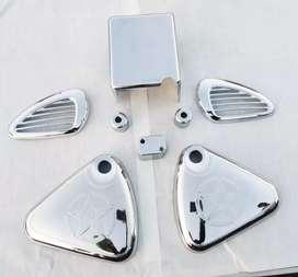 Chrome garnish set of 9 for royal Enfield Electra , Bullet electra