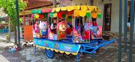 kereta panggung fiberplat wahana mainan NS Odong odong