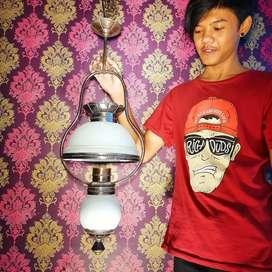 Lampu Gantung Antik Klasik Hias Joglo Gebyok Dinding Cafe