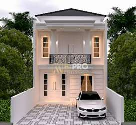 Rumah mewah siap bangun di Jagakarsa 2 lantai