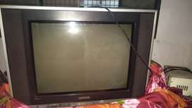 Samsung. Colors tv with stabilizer and tv trolly