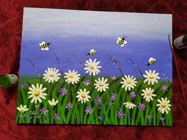 Daisy Garden Painting