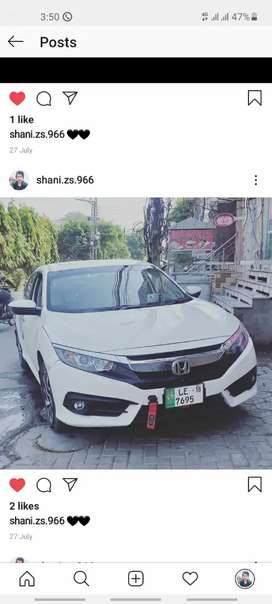 Honda Civic New Model Available for rent