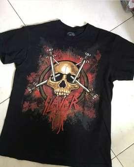 Kaos Band Slayer Tag Global Size M