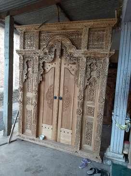 jual pintu gebyok jaminan full asli kayu jati cod tanpa dp bergaransi